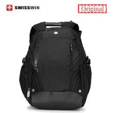 """Swissgear 17,3 """"Laptop Rucksack Tasche Schwarz Marke Männlich Computer Rucksack für Geschäftsreisen Swisswin Große Kapazität Rucksack Männer"""