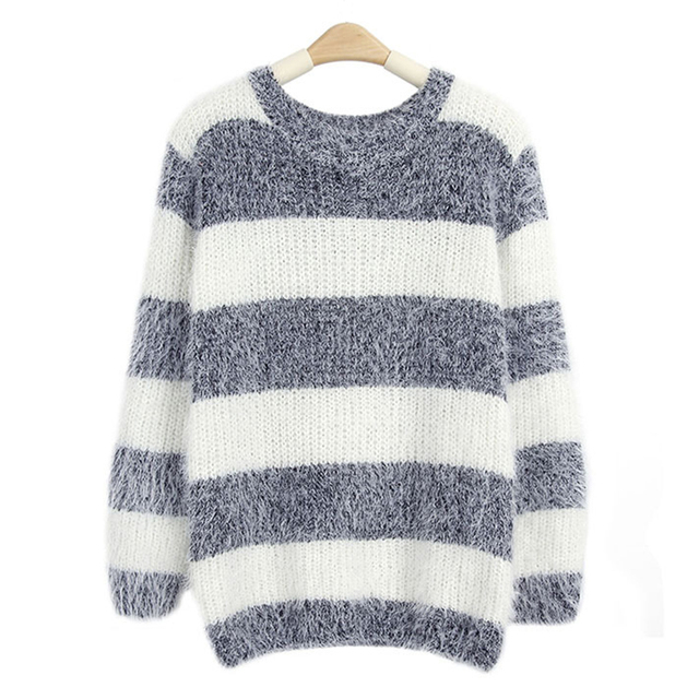 Mohair Pullover 2017 Autumn Winter Womens O Neck Sweater Women Hedging Loose  Pullover Casual Sweater Cheap b1999166c