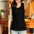 LASPERAL Brand Lace Tank Top Women Shirt Summer Fashion O-neck Sleeveless Elegant Floral Embroidery Vest Ladies Sexy Tops
