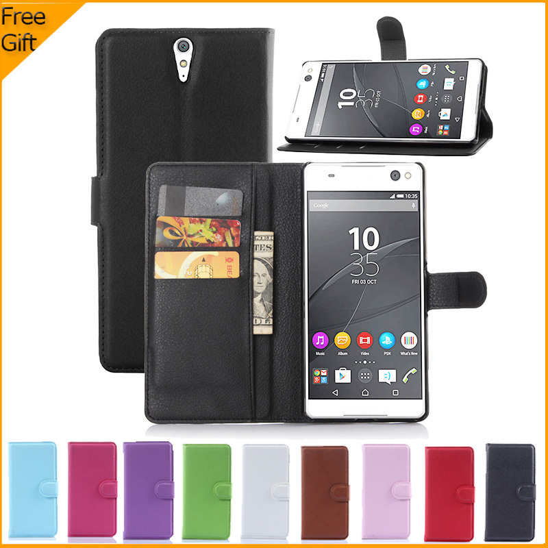 Luxury Wallet Flip PU Leather Case Cover For Sony Xperia C5 Ultra Dual E5533 E5553 Case Cell Phone Back Cover With Card Holder