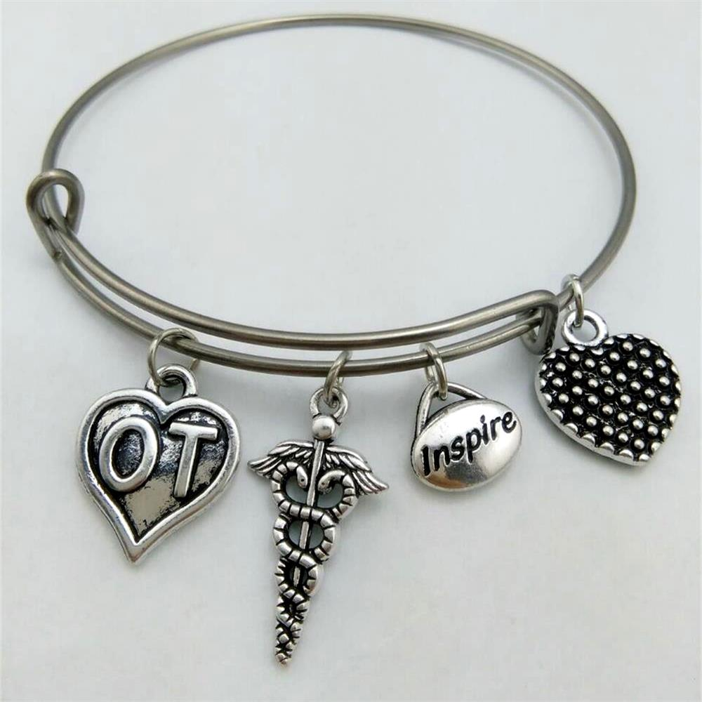 my shape Medical Occupational Therapist OT Heart Charm Stainless ...