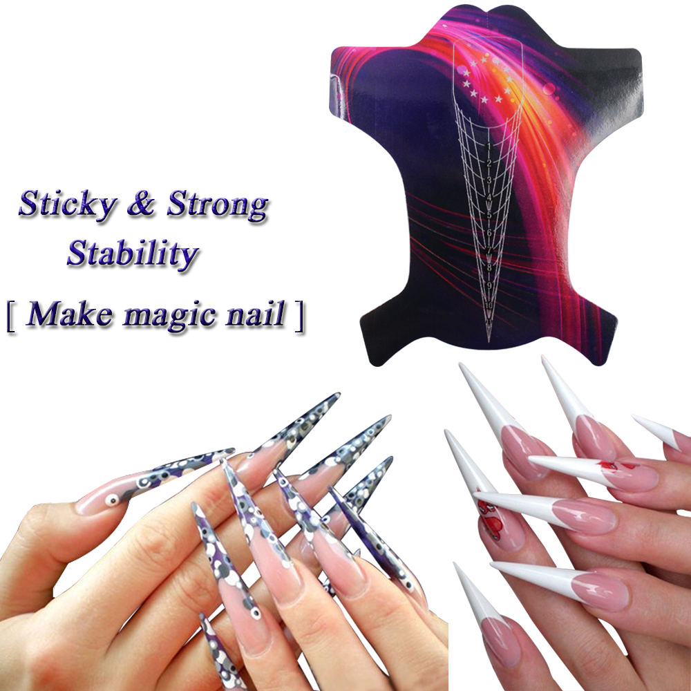 20pcs Nail Tool Sticker L Self Adhesive Gel Extension Forms For Acrylic Nails Uv Tip In Form From Beauty Health On Aliexpress