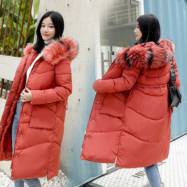 Faux Fur Parkas mujeres abajo chaqueta nueva 2018 chaqueta de invierno mujeres gruesa nieve desgaste abrigo de invierno Chaquetas Mujer Parkas más