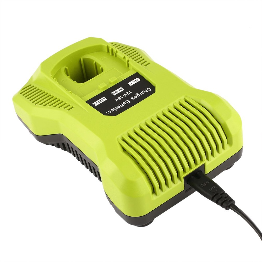 12V-18V Charger Replacement for Ryobi P117 Rechargeable Battery Pack Power Tool Battery IntelliPort Technology with Charger Cabl