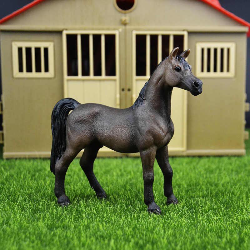 Original genuine Selvagem Animal de fazenda NOVO garanhão Árabe cavalo Estatueta figura Modelo crianças toy collectible