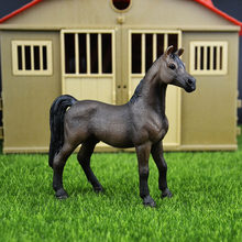 Original genuine Wild farm Animal NEW Arab stallion horse Figurine figure Model kids toy collectible(China)
