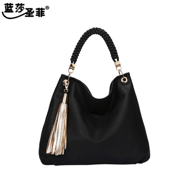 Quality PU Leather Tassel Bag Shoulder Bags Women Messenger Bags Women Handbag Women Leather Handbags European fashion 13221
