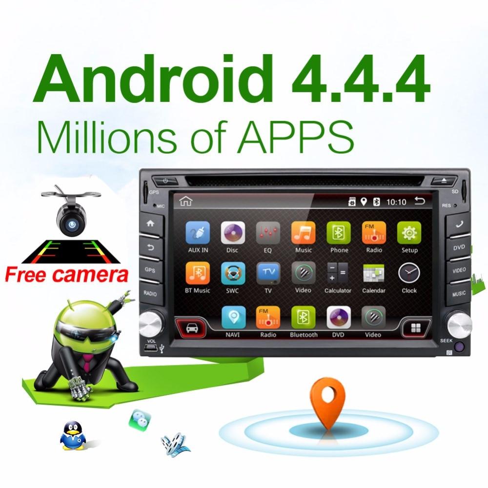 Electrónico del coche autoradio 2 din android 4.4 coches reproductor de dvd esté
