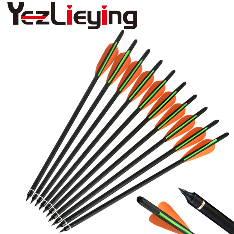 12PCS High Quality 16 17 18 20 22 Inch With Replace Arrow Tip Carbon Arrows Arrow for Archery Hunting <font><b>Crossbow</b></font> image