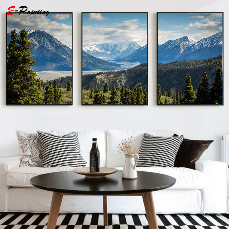 Home Decor Nation: Modern Wall Art Canada National Park Forest Photography