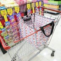 Oxford Cloth Folding Shopping Bags Supermarket Shopping Cart Trolley Bag Storage Bag Trolley Grab Bag