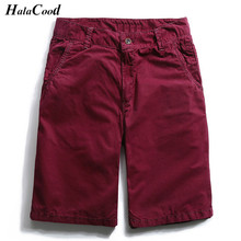 HALACOOD 2017 New Casual Shorts Men Brand Clothing Summer Breathable Shorts Male Top Quality Stretch Straight Solid Shorts Fat