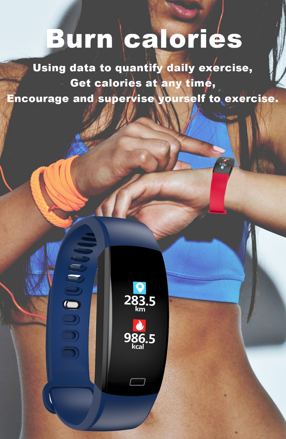 Smart Wristband 2018 Bracelet F64 Smartband gps waterproof sleep monitor Fitness Bracelet Smart Watch Call Alarm For iOS Android (9)