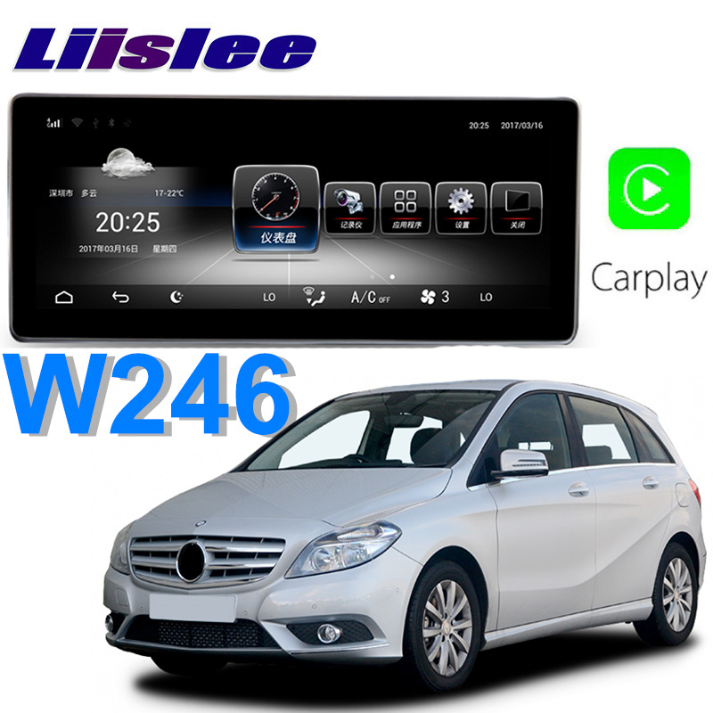 Liislee Car Multimedia Player NAVI For <font><b>Mercedes</b></font> Benz MB B Class <font><b>B180</b></font> W246 2012~2018 NTG Car Radio Stereo <font><b>GPS</b></font> CarPlay Navigation image