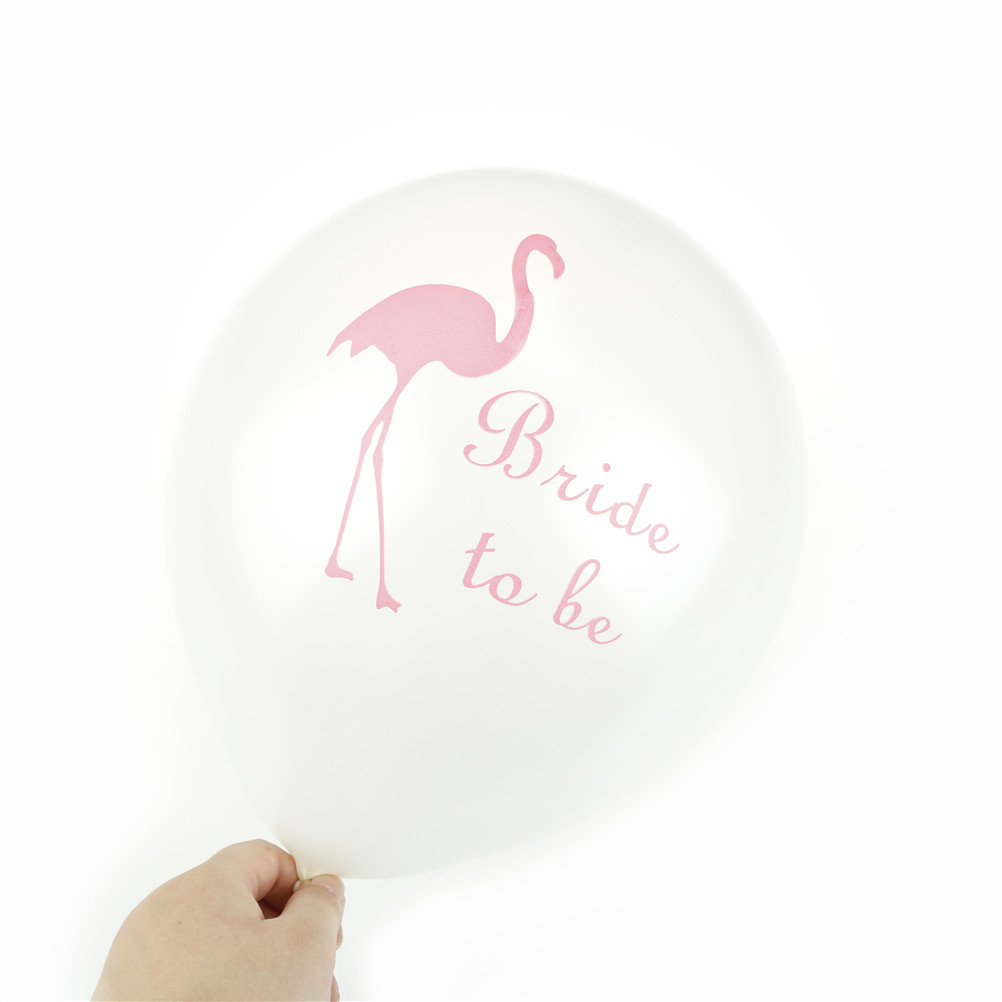 12inch Latex Flamingo print Baby Shower Pool Party Decoration Balloon Birthday Wedding Bachelorette Hen Party Supplies