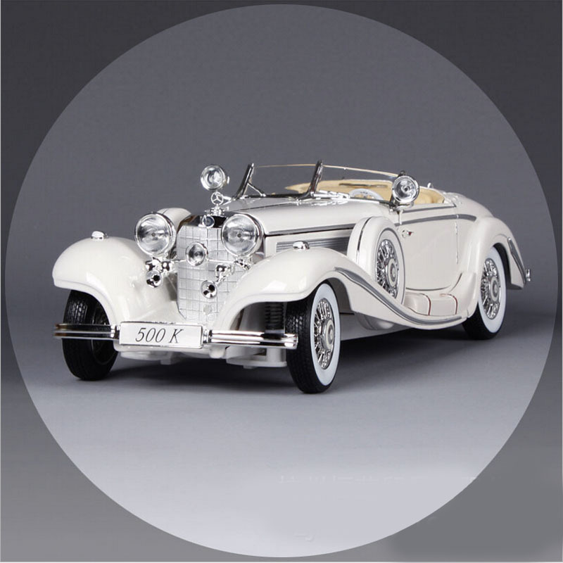 1:18 Scale original Maisto luxury 1936 500k vintage car jalopy metal diecast auto machine collectible model cars gift crafts toy 1 18 scale maisto classic children 1956 chrysler 300b antique vintage car metal diecast vehicle gift model kids toys collectible