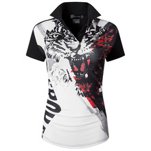 jeansian Womens Casual Designer Short Sleeve T-Shirt Tee Shirts Tshirt Golf Tennis Badminton SWT259 Black