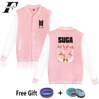 2017 BTS Kpop Baseball Jacket Winter Hoodies Women Men Bangtan Boys Casaco Feminino Hip Hop Jaqueta