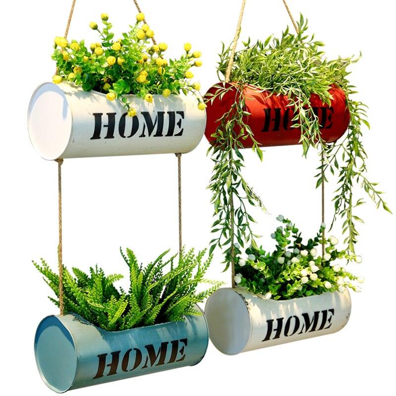 Висит стены цветочный горшок Вертикальный Сад посадки горшок цилиндра Дисплей Системы для сочных кашпо декоративные кактус небольшой завод