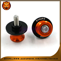 Motorcycle Aluminum Swingarm Spools Slider Stand Screw 0.393 inch For KTM 690 Enduro R 2009 10 11 2016  WITH LOGO accessories