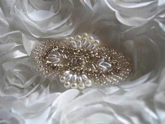 ₪Strass e perla bead applique c7dc43270f6