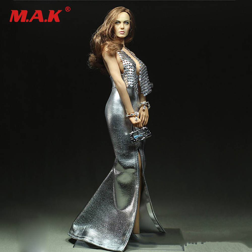 Sexy 1/6 Scale Julie Customize Dress For 12 PH Large Bust Figure Silver Age Doll Toys Accessories sexy 1 6 scale customize clothing for 12 phicen female large medium bust figure cowgirl doll toys accessories p20