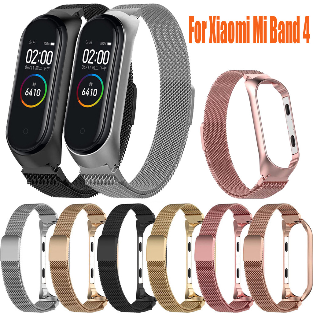 Watchbands Watch Strap For Xiaomi Mi Band 4 Newest Stainless Steel Watch Band For MiBand Band 4  Bracelet Smart Wristband 19JUL2