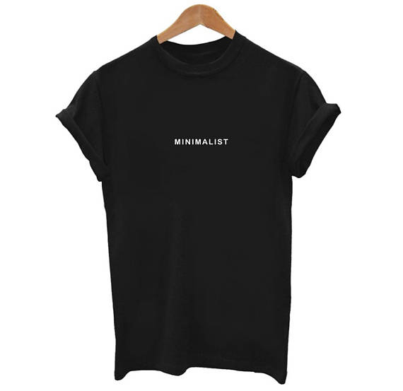 Minimalist Graphic Printed T Shirt Casual Hipster Tees ...