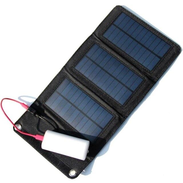Высокое Качество 5 Вт Портативный Солнечное Зарядное Устройство для Мобильного Телефона iPhone Складной Моно Панели Солнечных Батарей + Складная Солнечной Батареи USB зарядное устройство