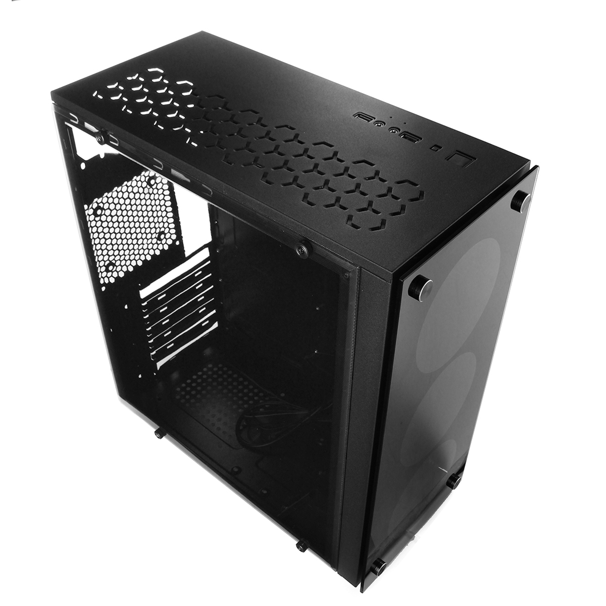 S SKYEE ATX Mid Tower Computer Gaming PC Case Black 4 Fan Ports Speed Control USB 3.0 415*180*390mm рюкзак case logic 17 3 prevailer black prev217blk mid