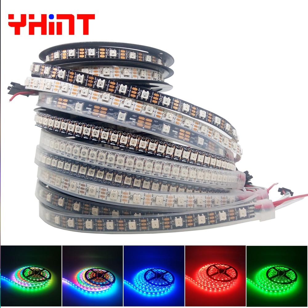 1m2m3m5m Nero/Bianco PCB WS2812B IP30/IP65/IP67 30/60/74/96/144led per metro Intelligente RGBW colori intrigue led pixel striscia striscia