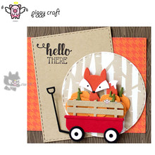 Piggy Ofício do metal de corte morre corte die mold 5 pcs New design fox soco Scrapbook paper craft molde faca de lâmina stencils morre(China)