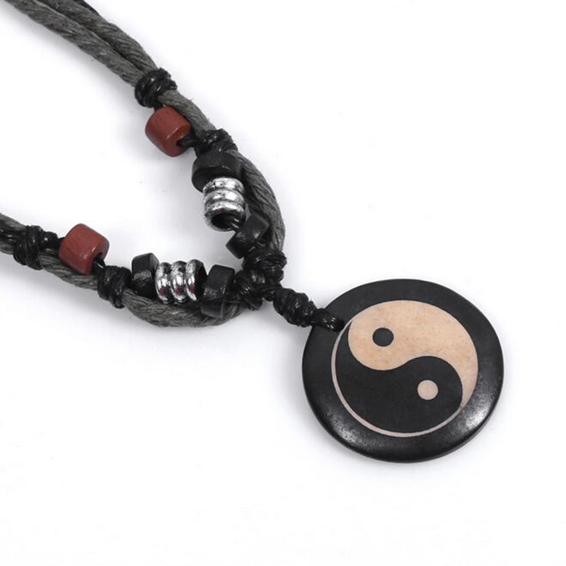 Handmade Ox Bone Yin Yang Pendant 1