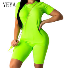YEYA Summer Short Sleeve Casual Two Pieces Sets Black Jumpsuits Women Bodycon Drawstring Elastic Waist Playsuits Overalls fuda two pieces sets large size 3xl playsuits women bodycon rompers bodysuits short sleeve printed casual summer overalls