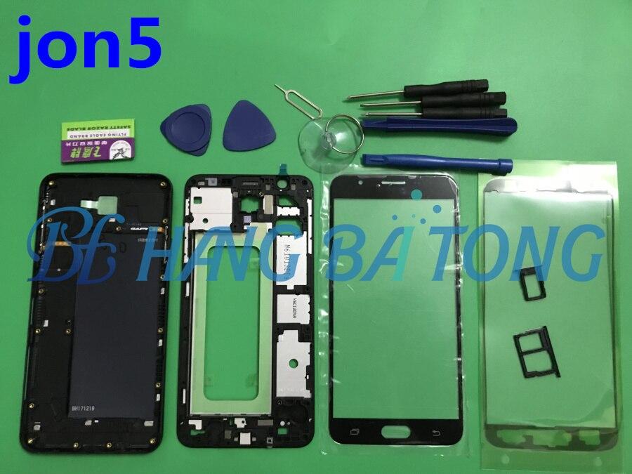 Cobertura completa para Samsung J5 Prime G570 G570F G570DS marco Frontal Medio placa bisel batería cubierta trasera funda de puerta con botones laterales Bolsa de basura para coche, bolsa de almacenamiento de respaldo de asiento, caja de basura, organizador de artículos diversos, bolsas de bolsillo, accesorios para papelera