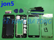 Full Housing For Samsung J5 Prime G570 G570F G570DS Front Mid Frame Plate Bezel Battery Back Cover Door Case With Side Buttons