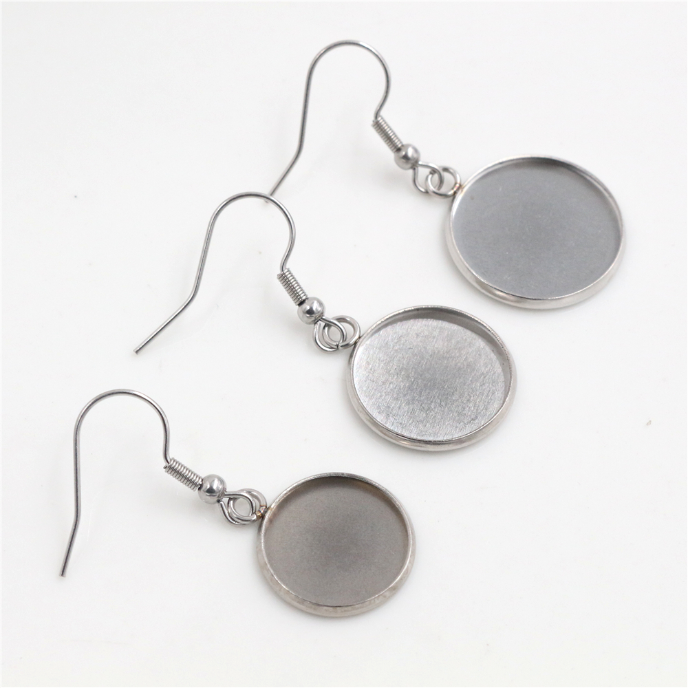 ( No Fade ) 14/16/18mm 10pcs/lots Stainless Steel Handmade Style Lever Back Earrings Blank/Base,diy Earrings Hooks Findings