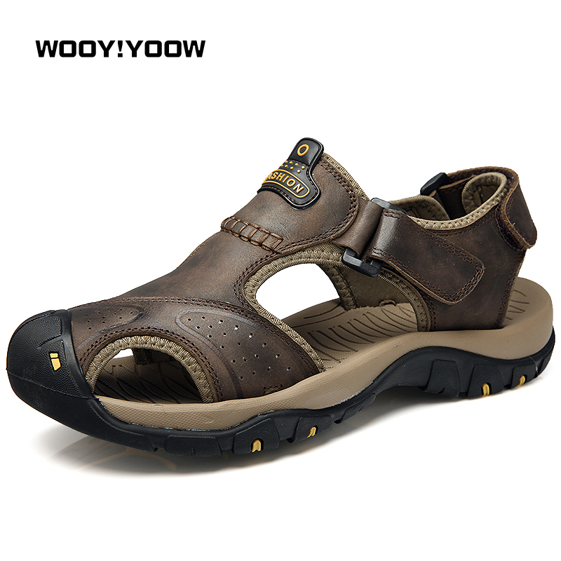 WOOY!YOOW 2018 Mens Sandals New Fashion Mens Casual Sandals Shoes Male Toe Beach Shoes Hot Cool Foot Walking Shoes Wearable ...