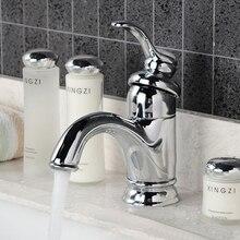 Одной Ручкой Современные Chrome Ванной Сосуд Раковина Туалет Бассейна Кран/Смесителя HG-1234DA