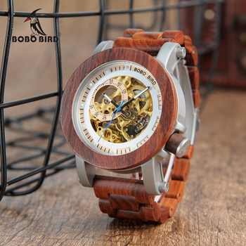 relogio masculino BOBO BIRD Watch Men Automatic Mechanical Watches Wood Vintage Big Size Men\'s Gift Wristwatch reloj hombre - Category 🛒 Watches