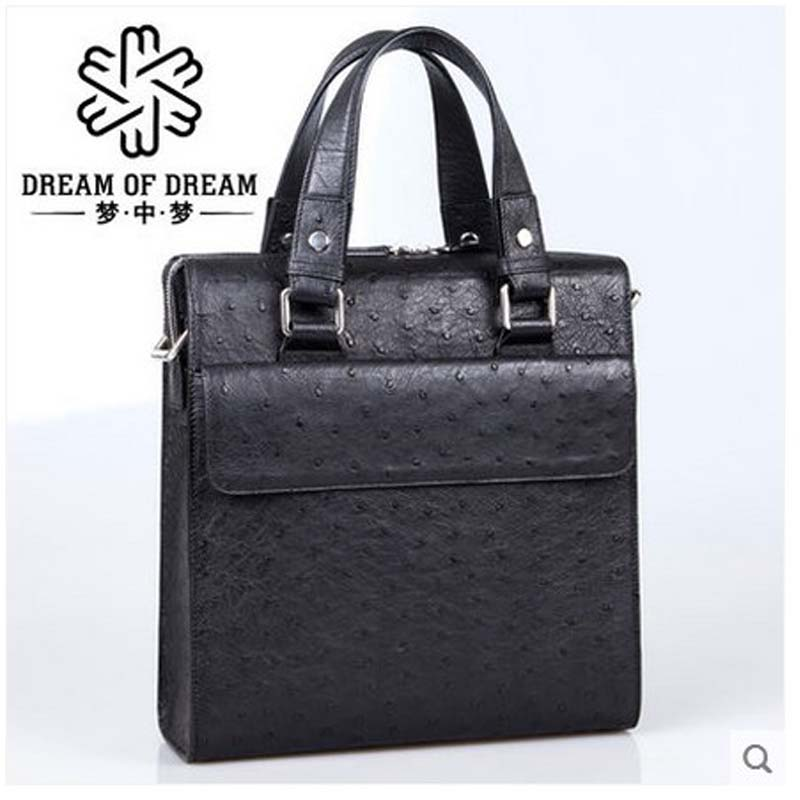 mengzhongmeng imported ostrich leather single shoulder men bag men's handbag vertical edition business casual man bag segal business writing using word processing ibm wordstar edition pr only