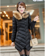 M 3XL Women Faux Fur Hooded Winter Thick Warm Parka Wadded Jacket Female Cotton Jacket Outerwear