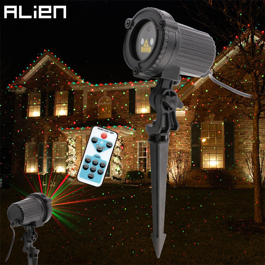 цены на ALIEN Remote Red Green Static Christmas Outdoor Waterproof Star Laser Projector Garden Xmas Tree Holiday Lawn Shower Lighting в интернет-магазинах