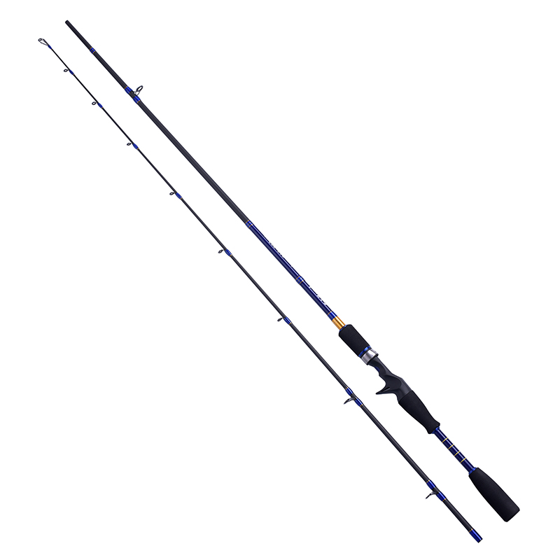 Fairiland 1.98m 2.1m casting spinning fishing rod high carbon fiber 2 SEC casting fishing pole lure fishing tackle