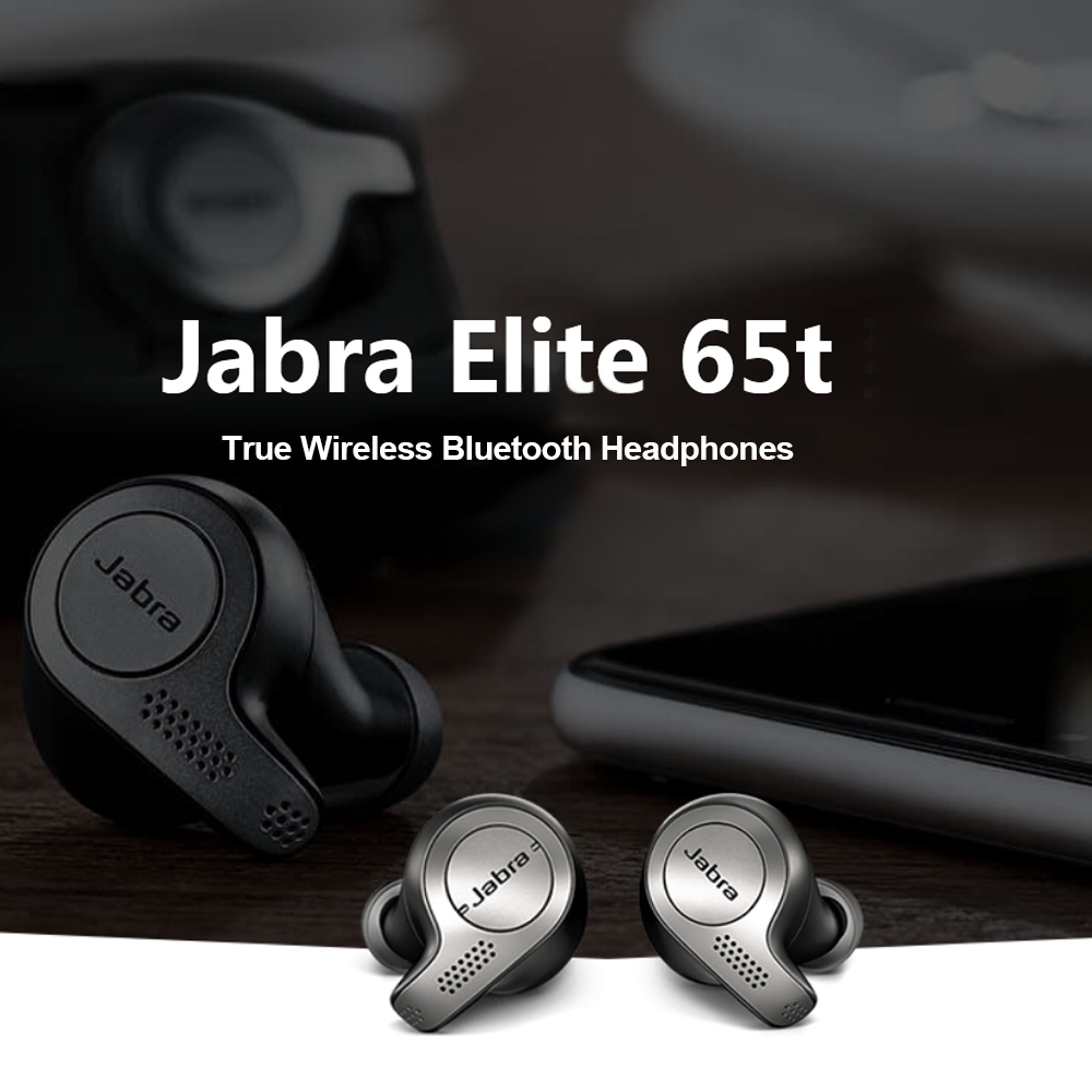 Jabra Elite 65t True Wireless Bluetooth Earbuds Tws Headphones With Charging Case Alexa Enabled Sport Running Headset Volgopoint
