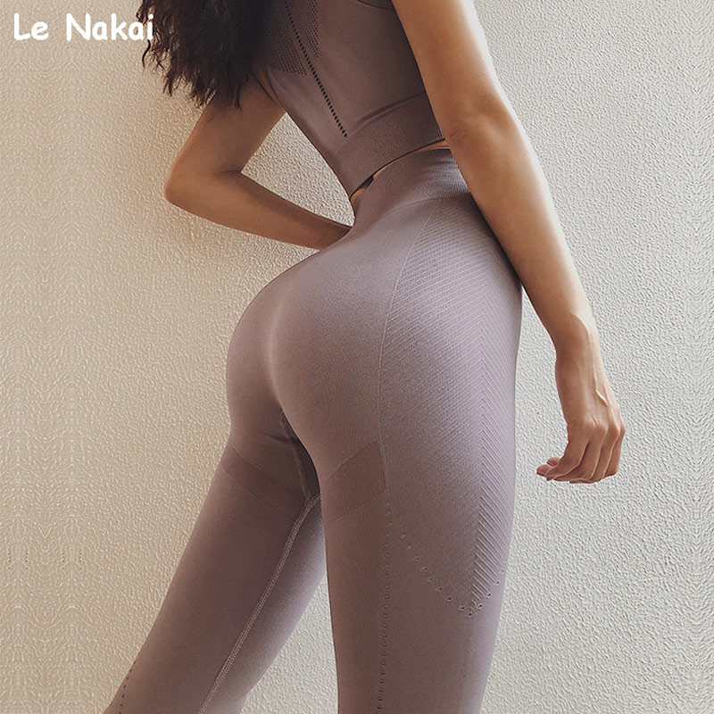 High Waisted Mesh Seamless Yoga Pants Scrunch Butt Workout legging Sports Women Fitness Gym Leggings Running Tights Activewear