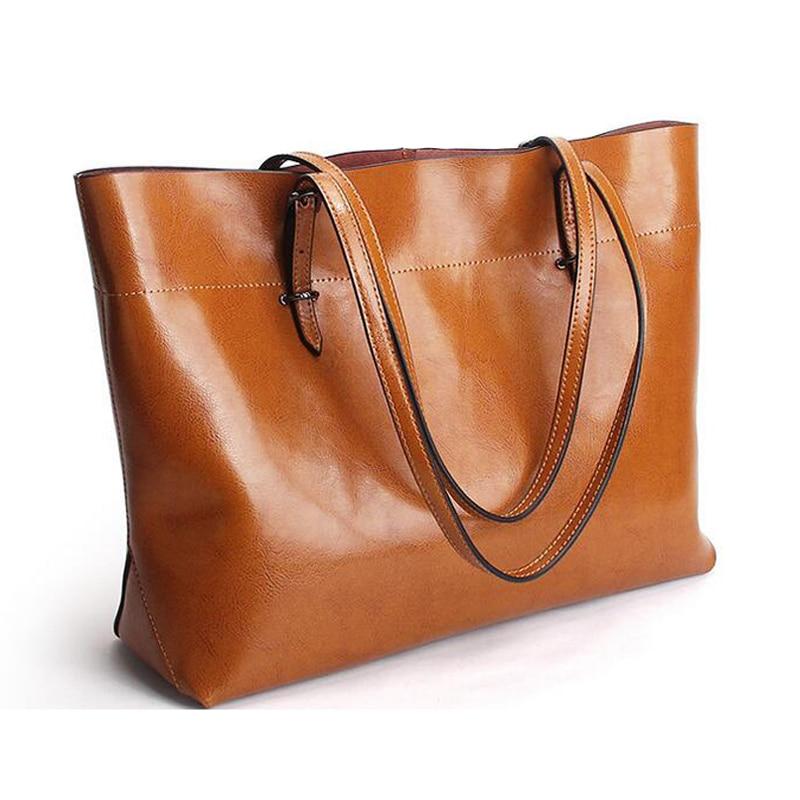 100% Genuine Leather Large Women Bag Designer Handbags High Quality Fashion Female Shoulder Bag Luxury Famous Brand Casual Totes