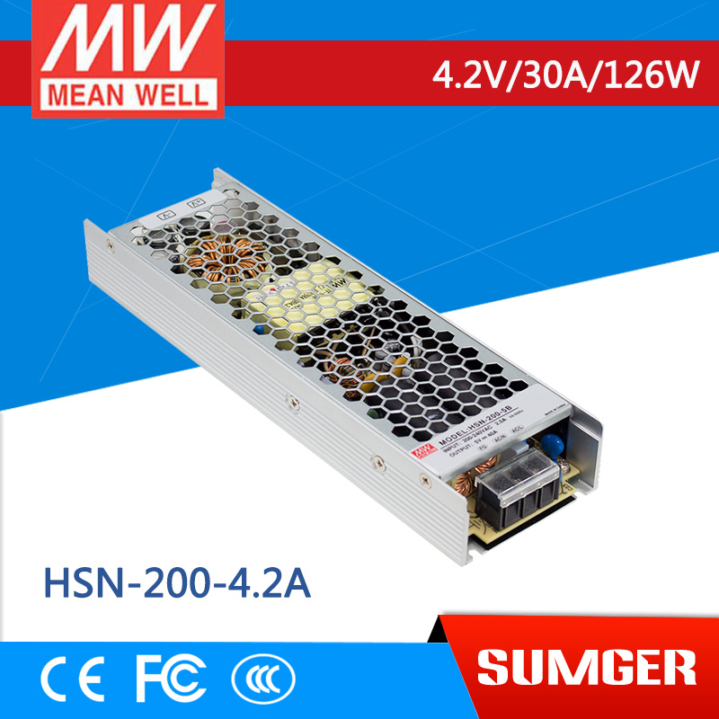 1MEAN WELL original HSN-200-4.2A 4.2V 30A meanwell HSN-200 4.2V 126W Single Output Switching Power Supply
