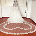 In Stock Ready High-End New 3M Cathedral Long Wedding Veils Special Special Bridal Veil Wedding Accessories Bride Wedding Veil