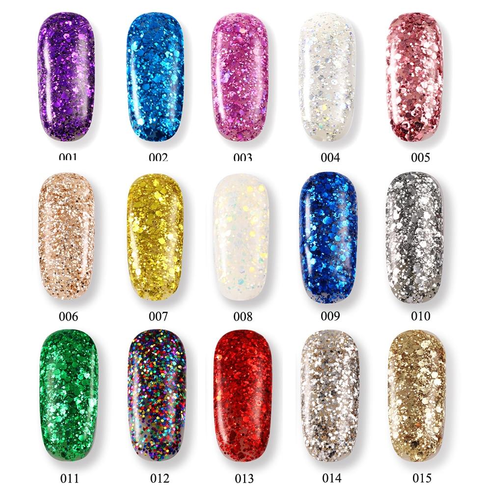 SVKDR 10ml Professional Diamond Glitter UV Gel Polish LongLasting ...